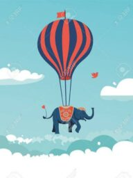 Elephant in Hot Air Balloon