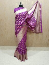 Purple Banarasi Saree