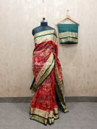 Red Ikat Patola Saree