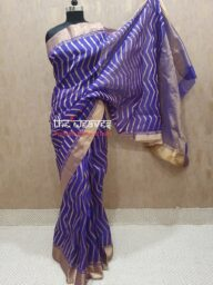Purple Chanderi Silk Saree