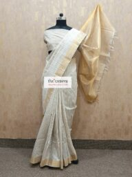 Stripes Cotton Chanderi Saree