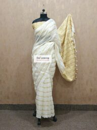 Linen Stripes Saree