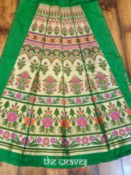 Green Pure Katan Silk Lehenga