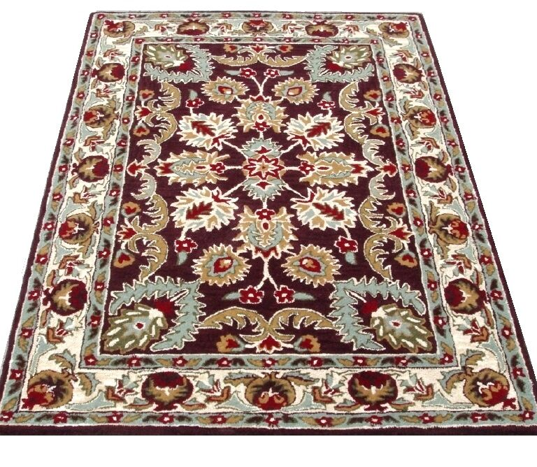 Brown Floral Traditional Rug