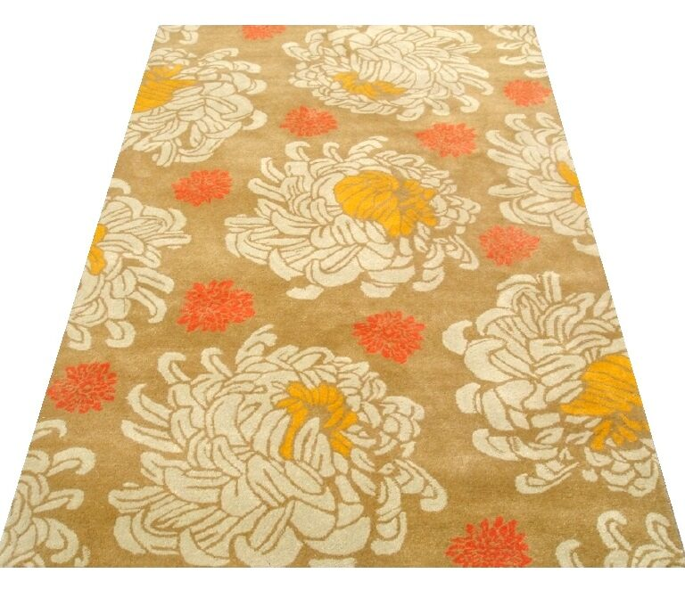 Ocre Traditional Motif Rug