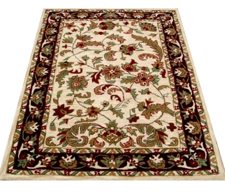 White Floral Traditional Rug