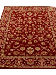 Maroon Floral Traditional Rug