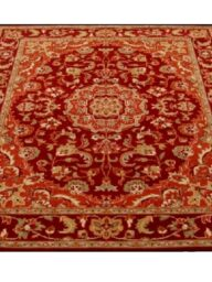 Orange/Maroon Floral Traditional Rug